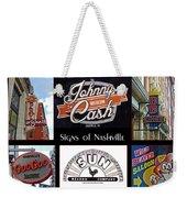 Signs Of Nashville Weekender Tote Bag