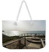Silence And Solitude - A Special Sunset Throne High Above The Ocean Weekender Tote Bag