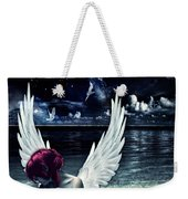 Silence Of An Angel Weekender Tote Bag by Mo T