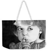Silence Please  Weekender Tote Bag
