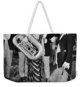 Silent Film Still: Music Weekender Tote Bag