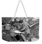 Silent Film Still: Picnic Weekender Tote Bag