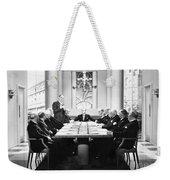 Silent Still: Board Meeting Weekender Tote Bag