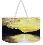 Silhouette Lagoon Weekender Tote Bag