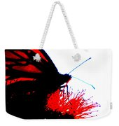 Silhouette Monarch With Red Weekender Tote Bag