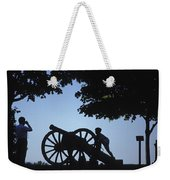 Silhouette Of A Boy And His Father Weekender Tote Bag