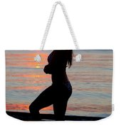 Silhouette Of A Fit Woman  Weekender Tote Bag