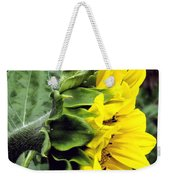 Silhouette Of A Sunflower Weekender Tote Bag