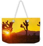 Silhouette Of Joshua Trees Yucca Weekender Tote Bag