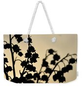 Silhouette Of Lilies Of The Valley 2 Weekender Tote Bag