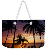 Silhouette Of Palm Tree On The Coast Weekender Tote Bag