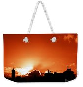 Silhouette Of Rome Against A Sunset Sky Weekender Tote Bag