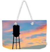 Silhouette Of Small Town Water Tower Weekender Tote Bag