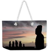 Silhouette Of The Moai Weekender Tote Bag