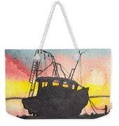 Grounded Shrimp Boat Weekender Tote Bag