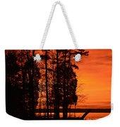 Silhouette Sunset Weekender Tote Bag