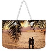 Silhouetted Couple Weekender Tote Bag