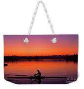 Silhouetted Man Rowing Weekender Tote Bag