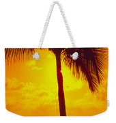 Silhouetted Palm Weekender Tote Bag