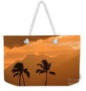 Silhouetted Palms Weekender Tote Bag