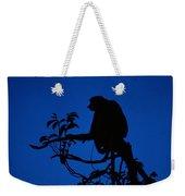 Silhouetted Proboscis Monkey Nasalis Weekender Tote Bag
