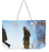 Silhouettes In Blue Sky Weekender Tote Bag