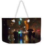 Silhouettes In The Rain - Umbrellas On 42nd Weekender Tote Bag