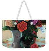 Silk Flowers Weekender Tote Bag