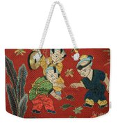 Silk Robe - Children Playing With Turtle Weekender Tote Bag