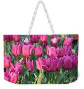 Silky Pink Tulips Weekender Tote Bag