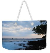 Silky Waves At Dusk Weekender Tote Bag
