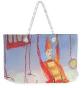 Silly Clown Weekender Tote Bag by Michelle Abrams