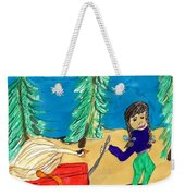 Silly Little Goose Wagon Ride Weekender Tote Bag
