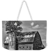 Silo Tree Black And White Weekender Tote Bag