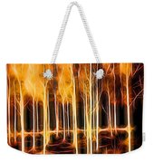Silver Birches Flaming Abstract  Weekender Tote Bag