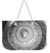 Silver Cameo Plate Weekender Tote Bag