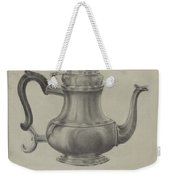 Silver Coffee Pot Weekender Tote Bag
