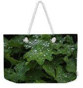Silver Droplets Weekender Tote Bag