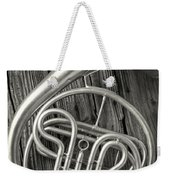 Silver French Horn Weekender Tote Bag