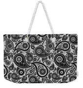 Silver Gray Paisley Design Weekender Tote Bag