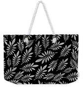 Silver Leaf Pattern 2 Weekender Tote Bag