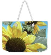 Silver Leaf Sunflower Growing To The Sun Weekender Tote Bag