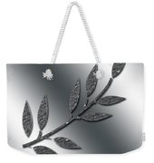 Silver Leaves Abstract Weekender Tote Bag