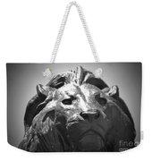 Silver Lion Weekender Tote Bag