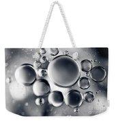 Silver Macro Droplets Weekender Tote Bag