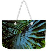 Silver Palm Leaf Weekender Tote Bag