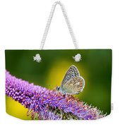 Silver-studded Blue Butterfly Weekender Tote Bag