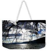 Silver Sunset Weekender Tote Bag