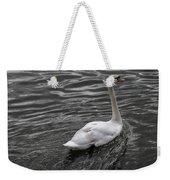 Silver Swan Weekender Tote Bag