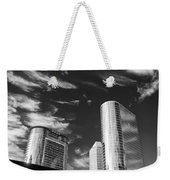 Silver Towers Weekender Tote Bag